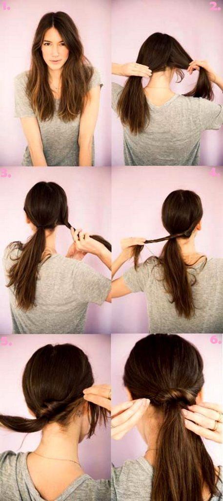 Chignon Ponytail Hairstyles